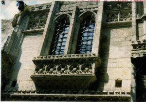 Back of Gatehouse showing ornate windows.