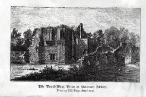 N.W. view of Ramsey Abbey Gatehouse 1730