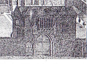 Old plate of Gatehouse at Hinchingbrooke House dated 1730