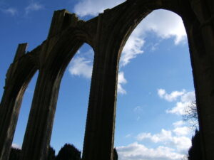 Crowland Abbey South arches of Nave