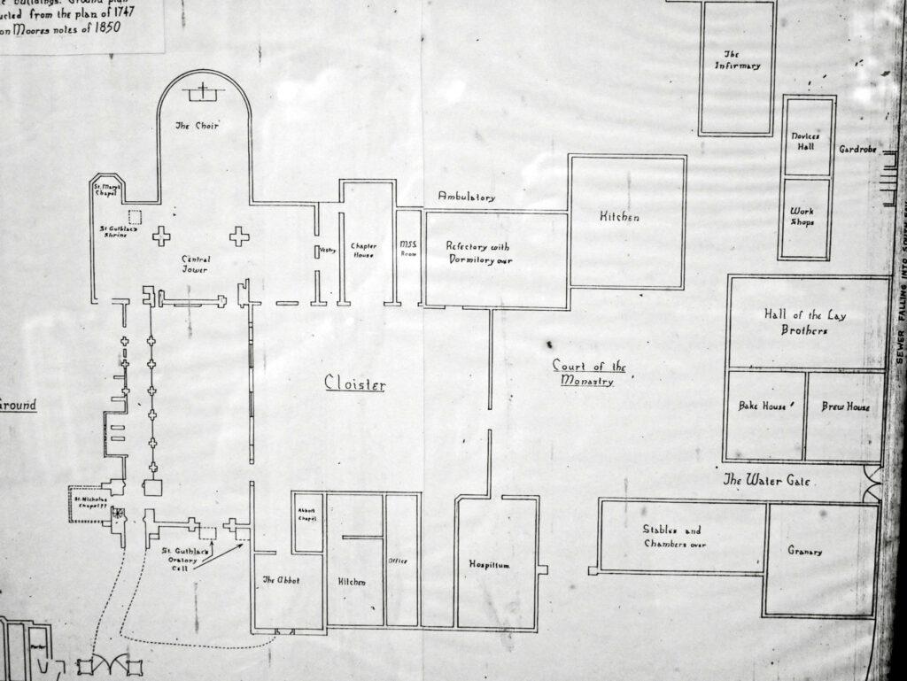 Crowland Abbey floor plan