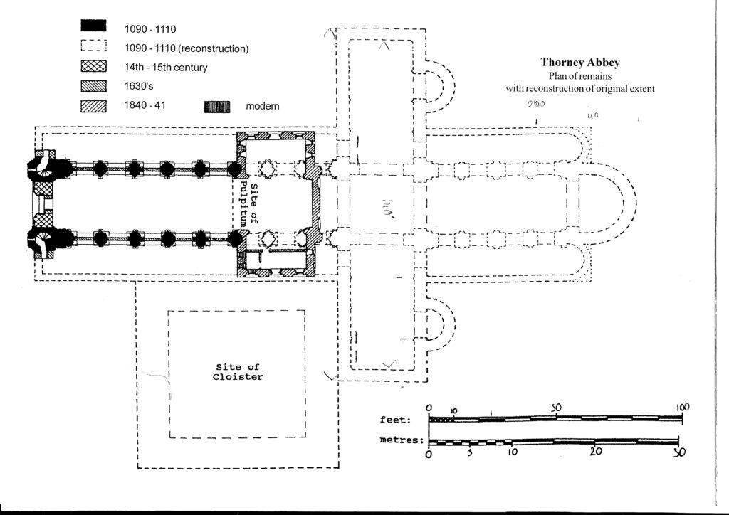 Thorney Abbey floor plan
