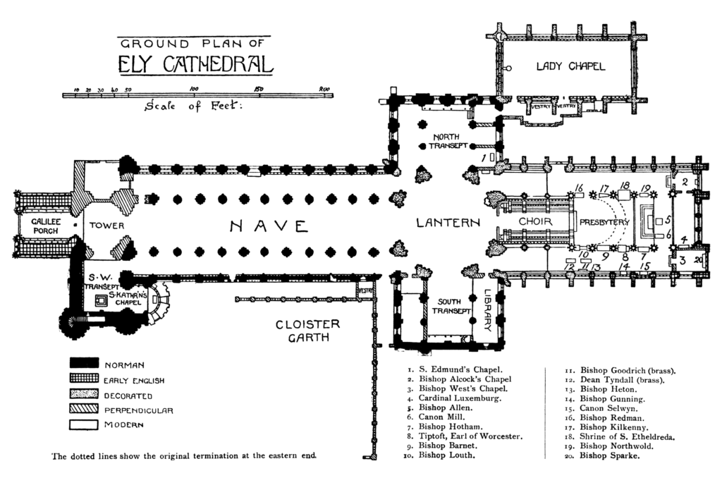 Ely cathedral floor plan